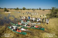 Ready to set off on their journey | Selinda Canoe Trail