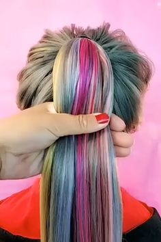 Are you looking for best hair colors to apply for long hair? Just see here, we have made a collection of fantastic long balayage colored hairstyles Bun Hairstyles, Wedding Hairstyles, Hairstyles Videos, Wacky Hair, Plum Hair, Creative Hairstyles, Hair Videos, Hair Trends, Dyed Hair
