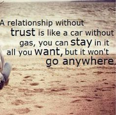 I thought this whole relationship was built on trust. Looks like I was completely and utterly wrong.