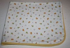 Carter's Child of Mine Baby Blanket Features cute little Ducks, Penguins, Turtles and Snails. The 2-ply Cotton makes a great receiving blanket or swaddling Lovey #Carters #CartersChildOfMine