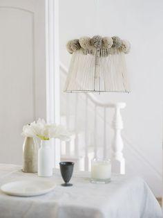pompom lampshade