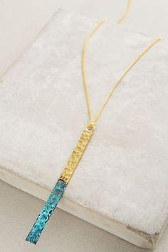 Slide View: 2: Matchstick Pendant Necklace