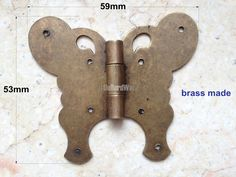2 pcs Brass made 59mmX53mm Butterfly metal hinges,brass hinges,parliament hinges,jewelry box hinges,decorative hinges VH0120 by LittleHardware on Etsy