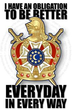 DeMolay crest with a inspiring quote.