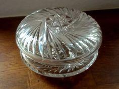 Art Deco Powder Jar - Chrystal Original Cut Glass Crystal Glass German