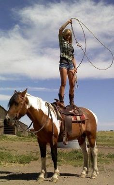 Rope it Cow Girl... ♥ #style#Nice. I love it ?#