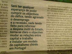 Governo português quer modelo capitalista chinês em Portugal, á custa de desemprego e salários baixos