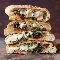 The secret to the crispy crust on this baked stromboli is Italian bread dough instead of pizza. Pack a loaf along for a day of tailgating.