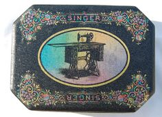 vintage Singer sewing machine tin by PastDecades on Etsy, $6.00