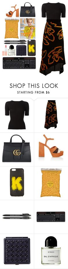 """6.467"" by katrinattack ❤ liked on Polyvore featuring Alexander Wang, Peter Pilotto, Gucci, Derek Lam, Fendi, Paper Mate, Logitech, Black, Byredo and Rimmel"