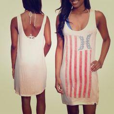 Hurley American Flag Dress