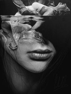 Black and White Pencil Art by Silvio Giannini Dark Photography, Girl Photography Poses, Black And White Photography, Illusion Kunst, Illusion Art, Double Exposition, Bild Tattoos, Photo D Art, Art Drawings Sketches