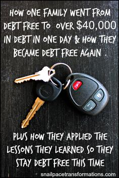 How one family went from debt free to 40,000 plus dollars in debt and then back to debt free again. Plus the lessons they learned along the way that will keep them debt free for good.