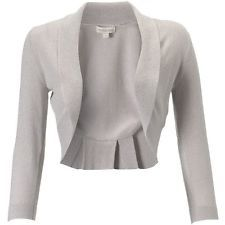MONSOON BLAIR SILVER LUREX SHRUG BOLERO FORMAL COVERUP CARDIGAN SIZE S BNWT