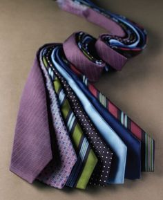 Eye-catching ties are so attractive.
