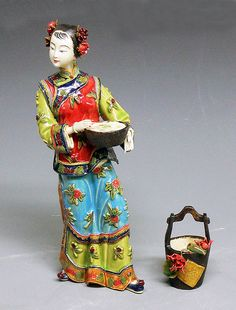 RP: Delicate Oriental Chinese Ceramic Porcelain Lady Figurine  - ebay.com