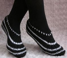Hand Knitted Slippers. $22.00, via Etsy.