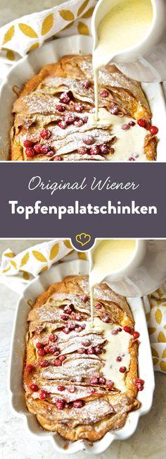 Topfen und Palatschinke ergeben zusammen eine äußerst delikate Mehlspeise. Ein Rezept aus Susanne Zimmels