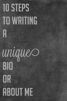Trying to write a good #author bio? Check out these tips.