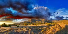 Thundercloud over Elena Gallegos, #Albuquerque. From  Bill Tondreau. See website for more awesome pix!