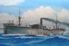 Japanese Merchant Ship  Arizona Maru 1920,  sunk of Guadalcanal 1942 (1)