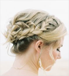 Do you have your wedding hair stylist on speed dial? We picked our TOP 25 Favorite braided wedding hair ideas and put them together for you to drool over! Braided Hairstyles For Wedding, Formal Hairstyles, Pretty Hairstyles, Bridal Braids, Bridal Hair, Wedding Hair And Makeup, Hair Makeup, Wedding Hair Inspiration, Bridesmaid Hair