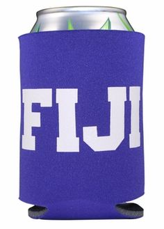 FIJI Pocket Can Coozie SALE $1.95. - Greek Clothing and Merchandise - Greek Gear®