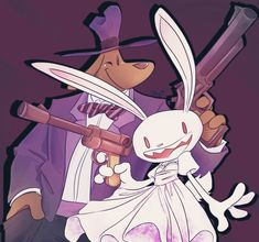 Sam and Max - Hera Souflee Tumblr Art Blog, My Drawings, Photos, Club, Anime, Artist, Paintings, Drawing Drawing, Pictures