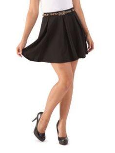 Skater Skirt with Belt at Dots