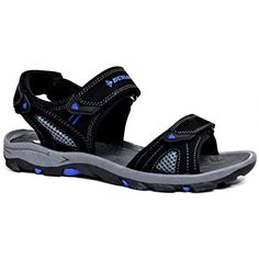 87ff3a3f1d2 Dunlop Men s Sports Beach Trekking Walking Hiking Hook   loop sandals...  amazon.co.uk