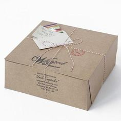 Brown paper packages tied up with twine.