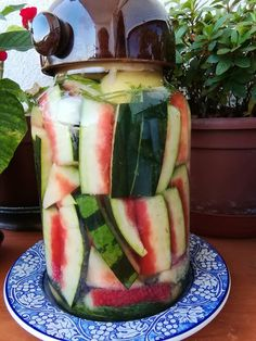 Zucchini, Watermelon, Food And Drink, Fruit, Vegetables, Drinks, Pickling, Drinking, Beverages