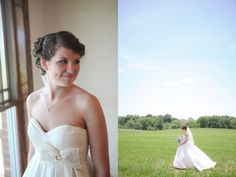 Perfect wedding dress for a southern wedding  | photos by http://www.sarahcblog.com | see more http://www.thebridelink.com/blog/2013/06/28/rustic-farm-wedding-in-knoxville-tennessee/