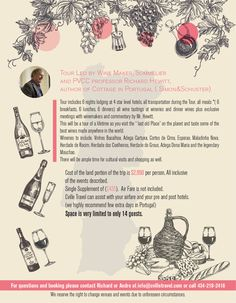 Marketing Contest Entry #4 for Design a Flyer for a Wine Tour in Portugal- USA…