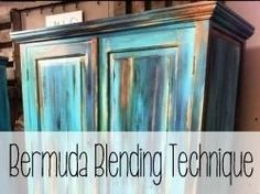 Bermuda Blending Painting Technique {Reality Daydream}