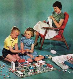 1962 LEGO Mutter mit Kindern