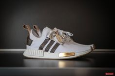 Womens sneakers on show. I NEED these in my life. YOU? With the NMD R1 PK as the base, Sneakersnbonsai then implemented authentic LV materials, in addition to a 24-carat gold leaf on the front block. For more fun fashion accessories posts, check us out on https://itgirlaccessories.com