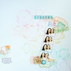 Ideas for a Pastel Rainbow Scrapbook Page Color Scheme | Michelle Houghton | Get It Scrapped