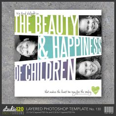 Digital Scrapbook Template No. 130 – In both 12x12 AND 8.5x11 – Great for scrapbooks or wall art