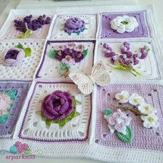 25 Super Ideas Knitting Projects For Babies Granny Squares Crochet Pillow Patterns Free, Crochet Lovey, Crochet Square Patterns, Crochet Quilt, Doily Patterns, Crochet Chart, Crochet Squares, Granny Squares, Crochet Cushion Cover