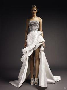 Edgy Wedding Dress Donatella Versace Gianni Atelier