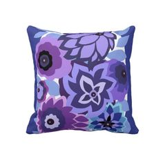 Shop CAMBRIA in Purples and Blues Placemat created by Art_Deco. Purple Throw Pillows, Floral Pillows, Decorative Pillows, Decor Pillows, Toss Pillows, Art Deco Wedding Gifts, Purple Bedrooms, Pillow Fight, Sentimental Gifts