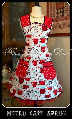 Retro Metro Cafe Handmade Apron by mimisneedle on Etsy, $42.00    Retro apron
