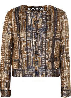 ShopStyle: Rochas Metallic brocade jacket
