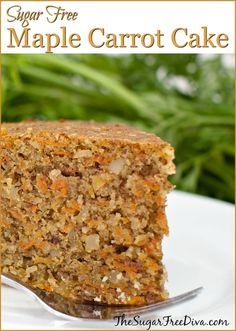 Sugar Free Maple Carrot Cake