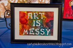 Early Childhood Scribbles: Art Walk Ideas 1-5