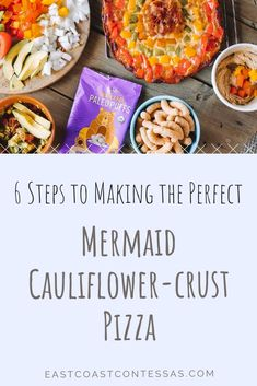 "Six SUPER easy steps to making the most beautiful and nutritious ""Mermaid"" Cauliflower Crust pizza (using a frozen crust from Caulipower! Peppers Pizza, Cauliflower Crust, Healthy Alternatives, Summer Recipes, Grain Free, Crust Pizza, Healthy Lifestyle, Healthy Eating, Vegetarian"
