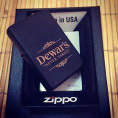Zippo dewar's whiskey