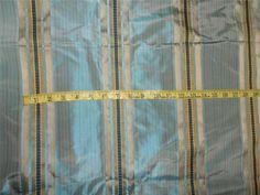 "SILK TAFFETA FABRIC BLUE X GOLD SATIN STRIPES 54"" Product Code: TAF#S115[2] Availability: In Stock $21.00"