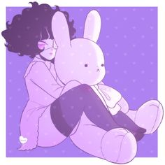 Pwushie by dollieguts on DeviantArt Kawaii Drawings, Cool Drawings, Aesthetic Art, Aesthetic Anime, Character Art, Character Design, Pastel Goth Art, Emo Art, Grunge Art